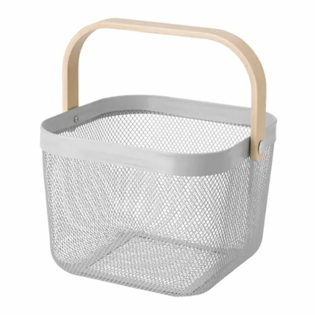 IKEA イケア バスケット かご グレー n80487752 RISATORP