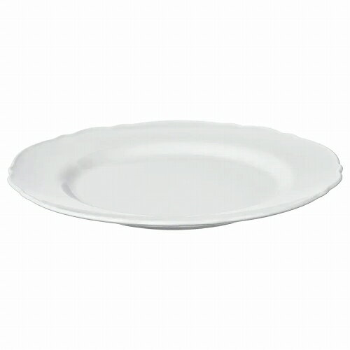 IKEA イケア 皿 28cm プレート ホワイト 白 UPPLAGA n90424698