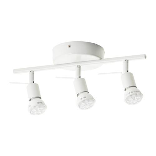 IKEA イケア シーリングトラック スポットライト3個 ホワイト 白 00262662 TROSS