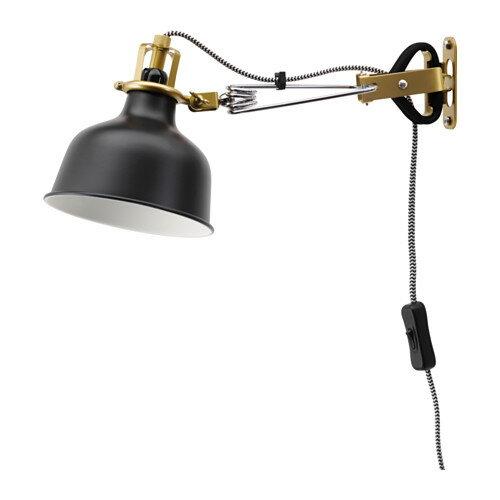IKEA イケア ウォール クリップ式 スポットライト ブラック 黒 20331400 RANARP