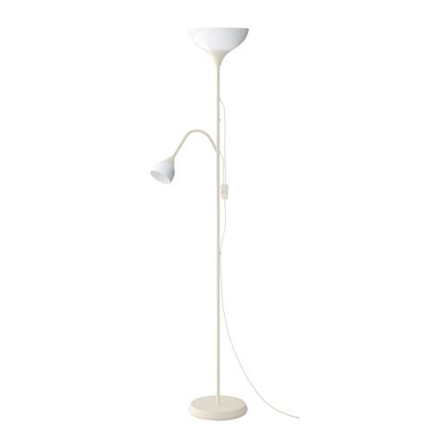 IKEA イケア フロアアップライト/読書ランプ ホワイト 白 50304886 NOT