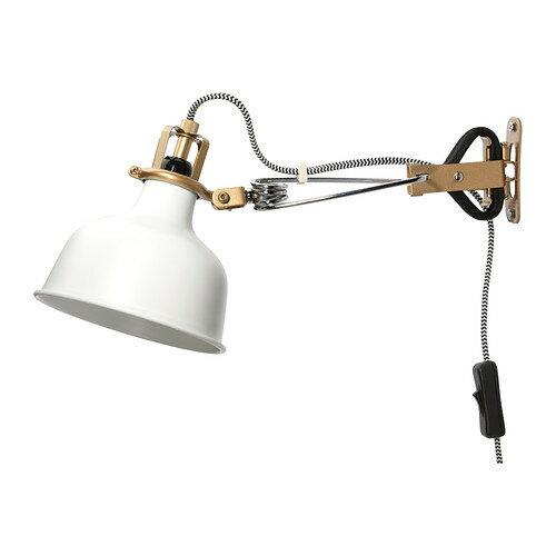 IKEA イケア ウォール クリップ式 スポットライト オフホワイト 白 60231328 RANARP