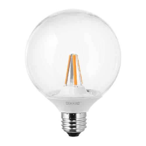 IKEA イケア LEDARE レーダレ LED電球 E26 600ルーメン 調光対応 色温度調光 球形 クリア z80388771