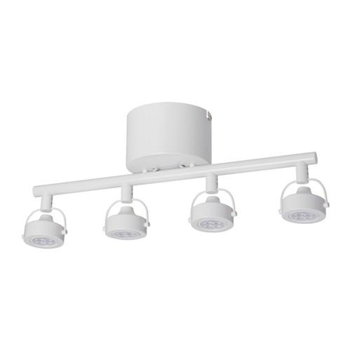 IKEA イケア IGGELBO 4灯スポットライト ホワイト 90344437