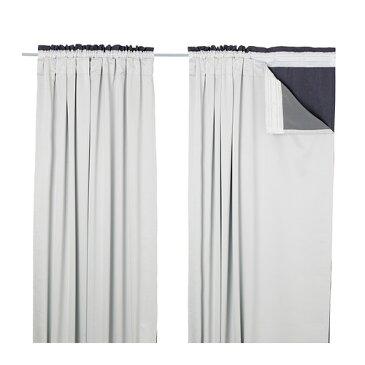 IKEA(イケア) GLANSNAVA カーテンライナー1組 ライトグレー 10291287