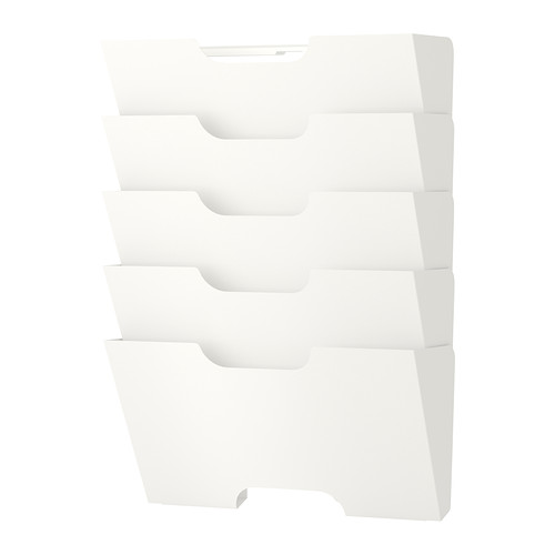 IKEA イケア ウォール 新聞ラック ホワイト 白 40198018 KVISSLE