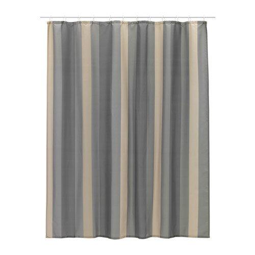 IKEA(イケア) BJORNAN シャワーカーテン ストライプ マルチカラー 40313061