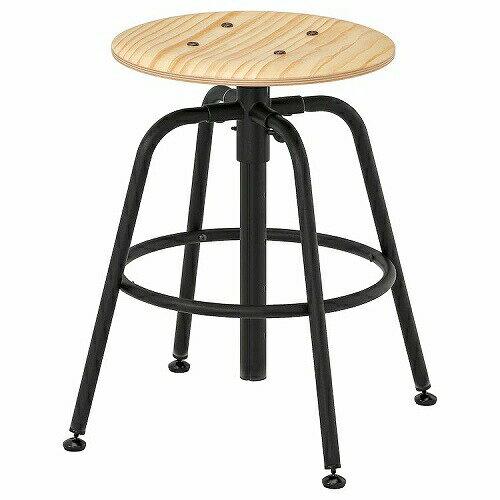 IKEA イケア KULLABERGスツール パイン材 ブラック 黒 z90363652