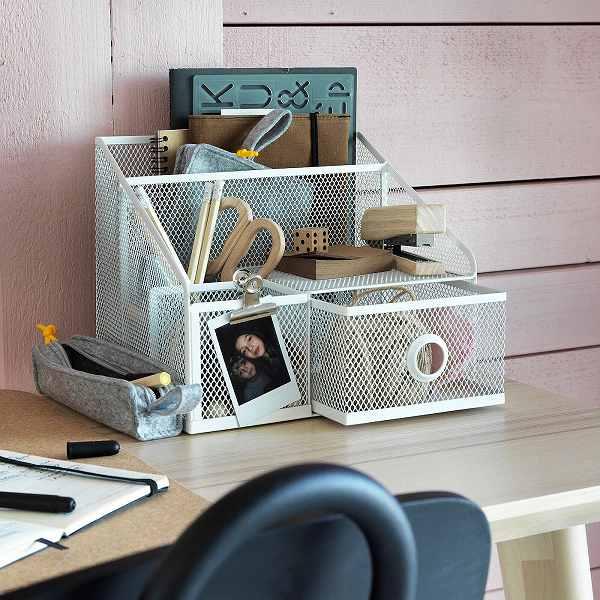 IKEAイケアデスクオーガナイザーペン立て文房具整理25x20cmn80428828DRONJONS