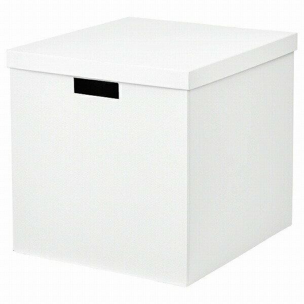 IKEA イケア 収納ボックス ふた付き ホワイト 白 32x35x32cm n60469301 TJENA