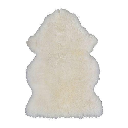 IKEA イケア LUDDE 羊皮 ホワイト 白 90166468