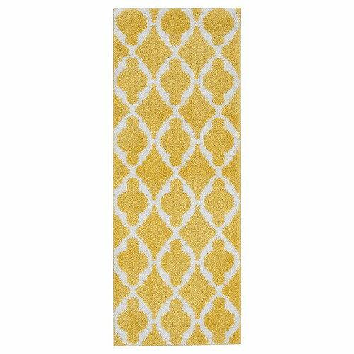 IKEA イケア キッチンマット イエロー 黄色 ホワイト 白 120×45cm z90397303 AUNING
