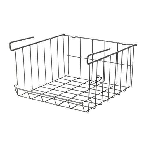 IKEA イケア OBSERVATOR クリップオンバスケット かご グレーブラウン d00312493
