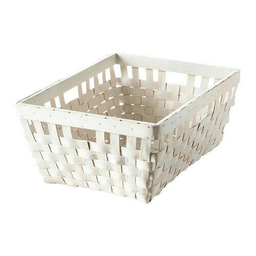 IKEA イケア KNARRA バスケット かご ホワイト 白 d10243319