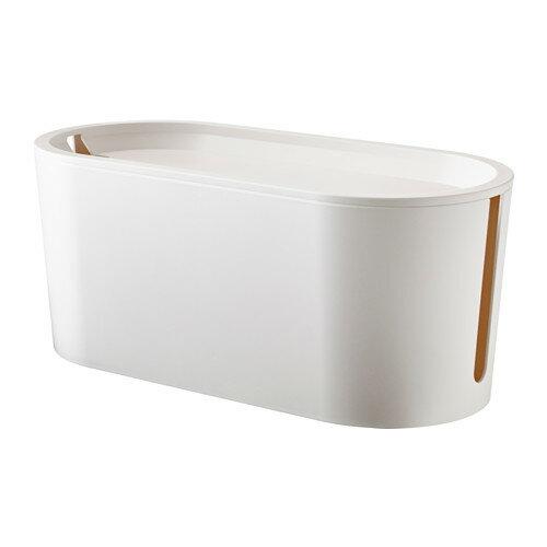 IKEA イケア ケーブルマネジメントボックス ふた付き ホワイト 白 a10289835 ROMMA