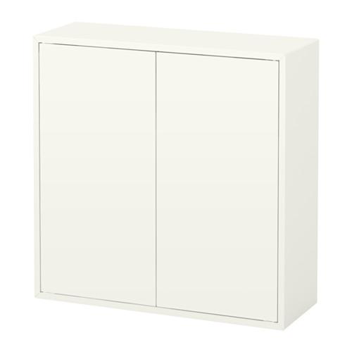 IKEA イケア EKET キャビネット 扉2 棚板2付き ホワイト 白 b10334606