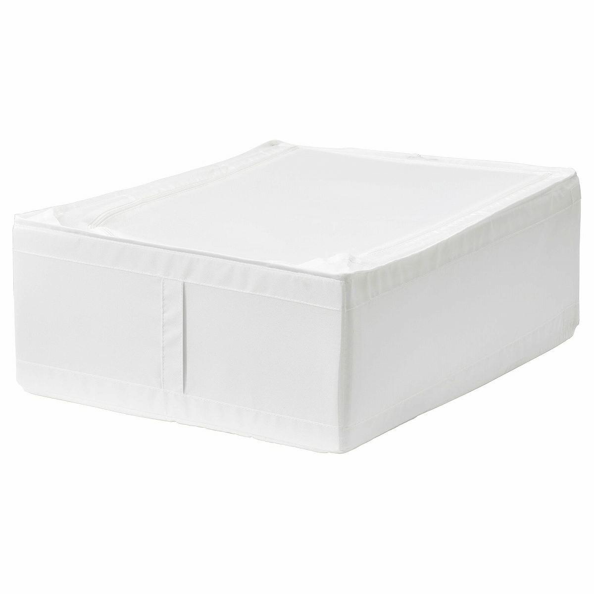 IKEA イケア SKUBB スクッブ 収納ケース ホワイト 白 50290361 幅44×奥行き55×高さ19cm ベッド下収納の写真