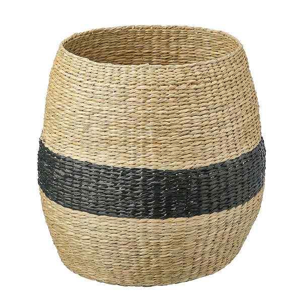 IKEA イケア バスケット 40 cm シーグラス ブラック n90439505 TJILLEVIPS