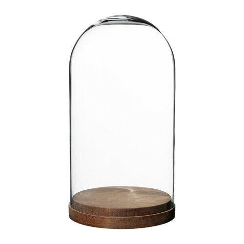 IKEA イケア HARLIGA ガラスドーム ベース付き クリアガラス d20327304