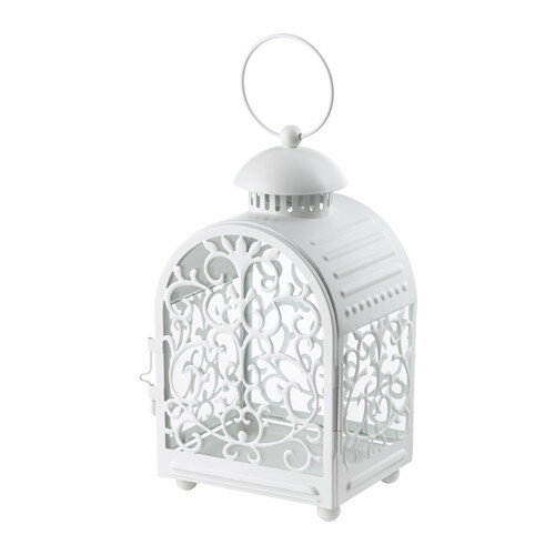 IKEA イケア GOTTGORA メタルカップ入りキャンドル用ランタン 室内/屋外用 ホワイト 白 d20341475