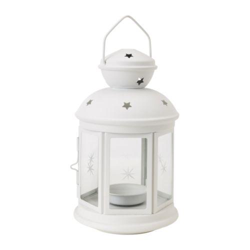 IKEA イケア ROTERA ティーライト用ランタン 室内 屋外用 ホワイト 白 90143189