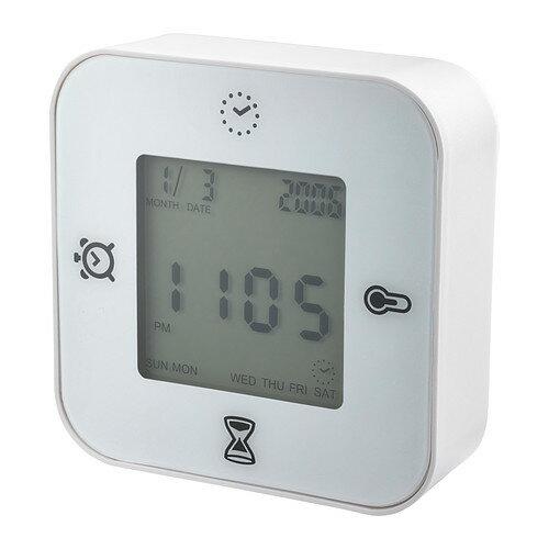 IKEA イケア KLOCKIS 時計/温度計/アラーム/タイマー ホワイト 白 d50277005