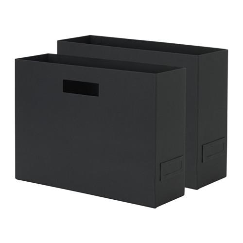 IKEA イケア TJENA マガジンボックス ブラック 黒 紙 z60379013