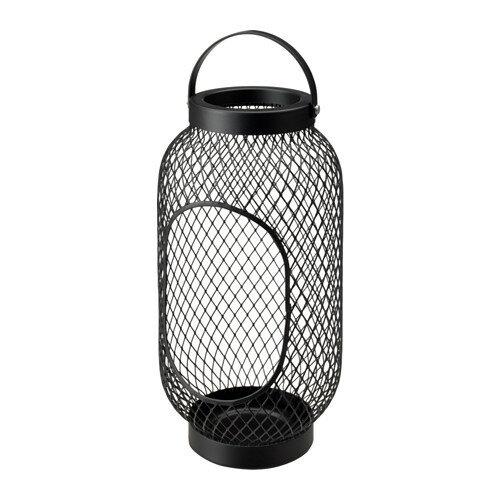 IKEA イケア TOPPIG ブロックキャンドル用ランタン ブラック 黒 d70327288