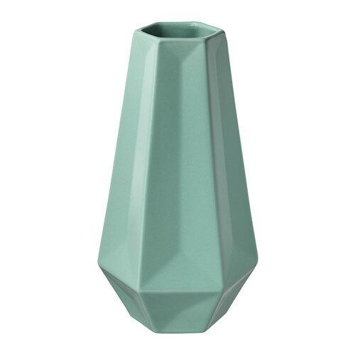 IKEA イケア LIVSLANG リーヴスロング 花瓶 グリーン z80344433の写真