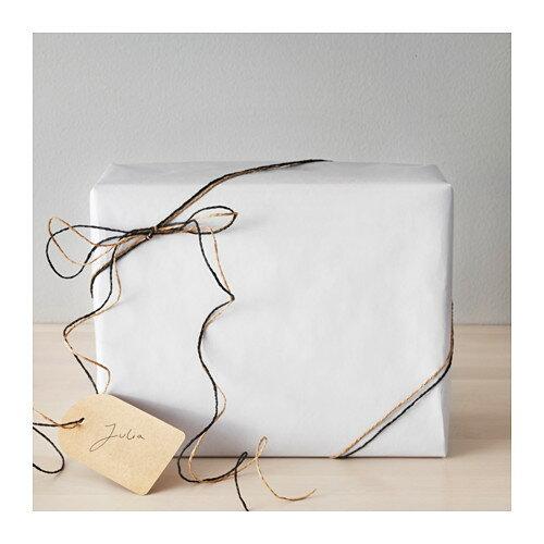 IKEA(イケア) GIVANDE ジーヴァンデ ギフト包装紙 ホワイト z90348280