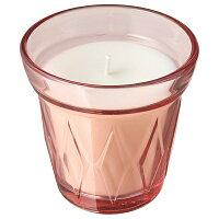 IKEAイケア香り付きキャンドルグラス入りワイルドストロベリーダークピンクn20442295VALDOFT