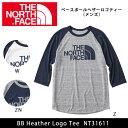 ノースフェイス THE NORTH FACE Tシャツ ベースボールヘザーロゴテ…