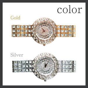 fdf11ae3a0 【clarissa】トライアングルビジュー腕時計 レディース,アクセサリー ジュエリー,ブレスレット ブレスレット ...