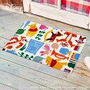 【メーカー直送】 Disney Mat Collection ディズニー 玄関マット Phoo くまのプーさんと仲間達 50×75cm 洗える 滑り止め BK00061 クリーンテックス