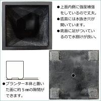 大型立方体プランターS4545底