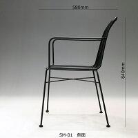 スチールチェアSM-01B横