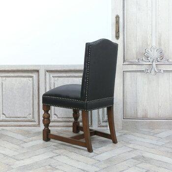 ヴィンセントダイニングチェア食卓椅子ブラックフェイクレザー黒PU9002-5P32B