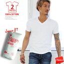 tシャツ メンズ HANES ジャパンフィット2枚組vネック 半そで 下着 肌着 インナー 白 ホワイト 半袖 コットン100% ビッグサイズ XL XXL 無地 Tシャツ 半そで 厚手 厚地 Hヘインズ 2P 2枚組 シャツ Vネック 2-PACK T-SHIRT h5115