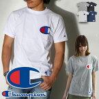 チャンピオン【正規品】c3-f362 ユニセックス Big Cロゴ Tシャツ抜群のインパクト、ビッグCロゴ刺繍。カジュアルの王道スタイルです。Champion ビッグロゴ 刺繍 アメカジ 綿100% タウンユース スポーツ 定番 ベーシック 夏 CHAMPION ワッペン/