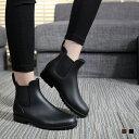 オトナシンプルなサイドゴアショートレインブーツ 長靴 レイン...