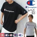 メール便 送料無料 チャンピオン Tシャツ 半袖 CHAMPIONのBASICシリーズ。ロゴプリントTシャツ アメカジ Champion Tシャツ レディース 半袖 チャンピオン Tシャツ ワンポイント ベーシック メンズ ユニセックス L 2L LL 大きいサイズ c3-p302 秋冬