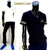 DRESS CAMP(ドレスキャンプ)スタッズロゴVネックTシャツ