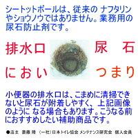 【尿石防止剤】 小便器 消臭剤  シートット ボール CTS 6個 【送料無料 業務用】