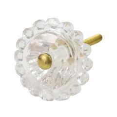 花びらのような形が可愛いガラスノブ花びらのような形が可愛いフレンチアンティーク調ガラスノ...