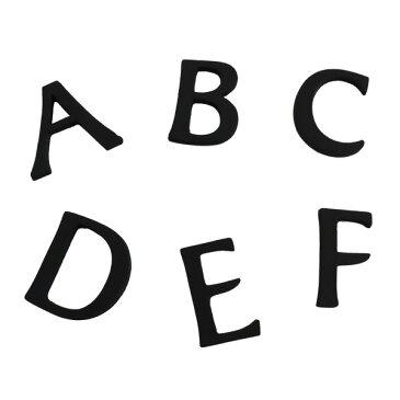 【ネコポス対応】大文字ブラック45mm【レター】【真鍮レター】【大文字】【英字】【欧文】【abcdef】【letter】【看板】【表札】【ネームプレート】【黒】【ツリーハウス】【big45abcdef】【duve】