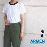 1アーメンフランス製リンガーTシャツクルーネック半袖レディースARMEN[ネコポス]