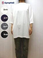 ジムフレックスドロップショルダー7分ビッグTシャツロゴ刺繍チュニックGymphlex