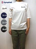 ジムフレックスハーフスリーブ5分袖クルーネックTシャツロゴ刺繍レディースGymphlex