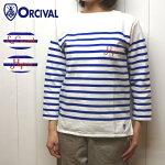 オーチバル刺繍ラッセルボーダーバスクシャツレディースエンブロイダリーオーシバルOrcival
