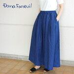 ダナファヌルリネンロングスカート88cm日本製Danafaneuil